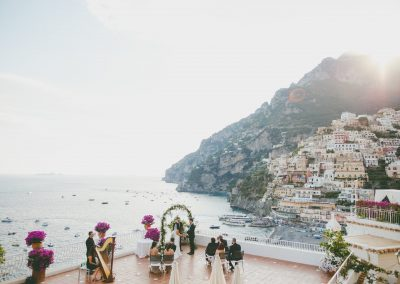 Intimate wedding in Positano