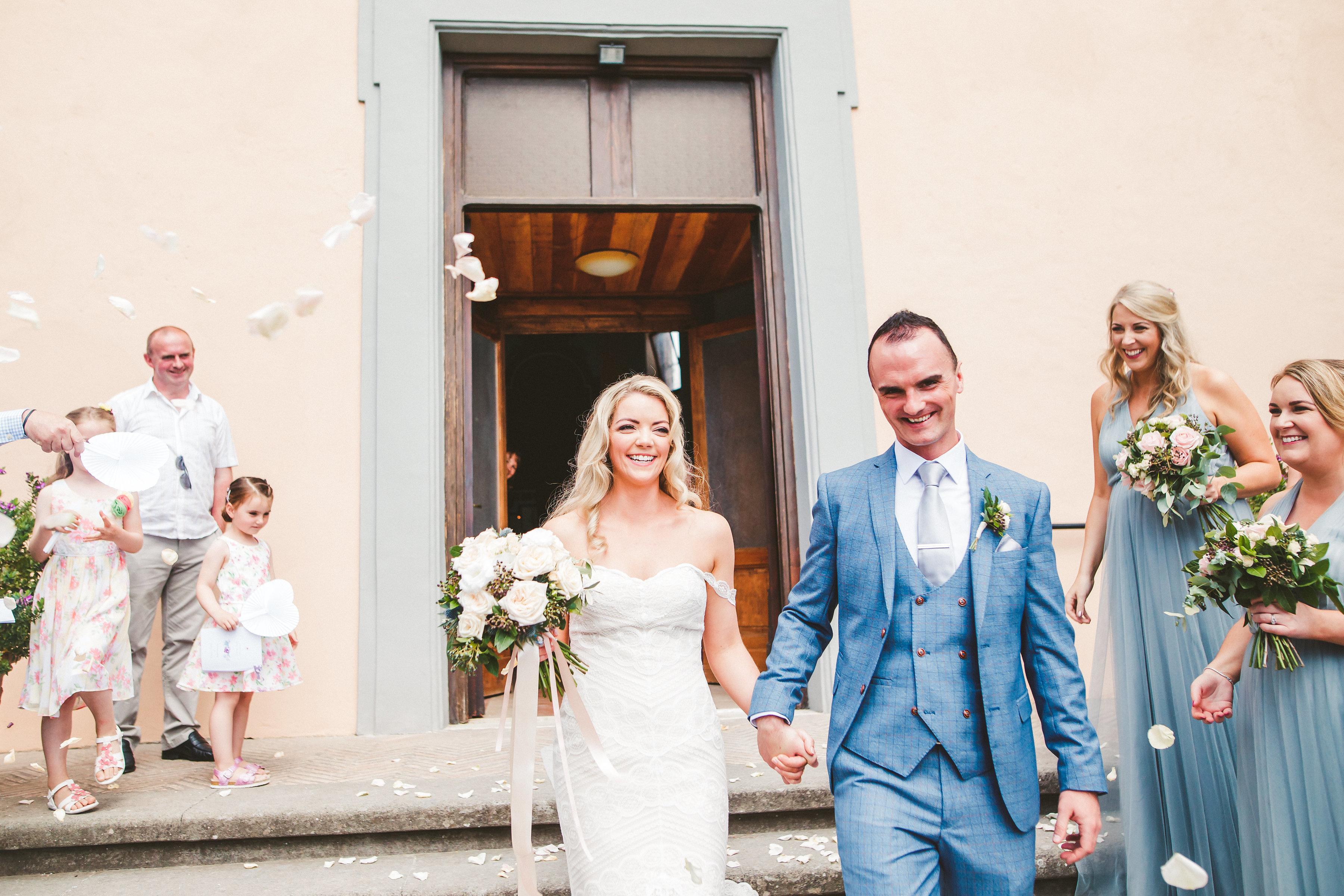 Romantic wedding at Borgo di Tragliata