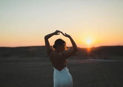 sunrise desert shooting