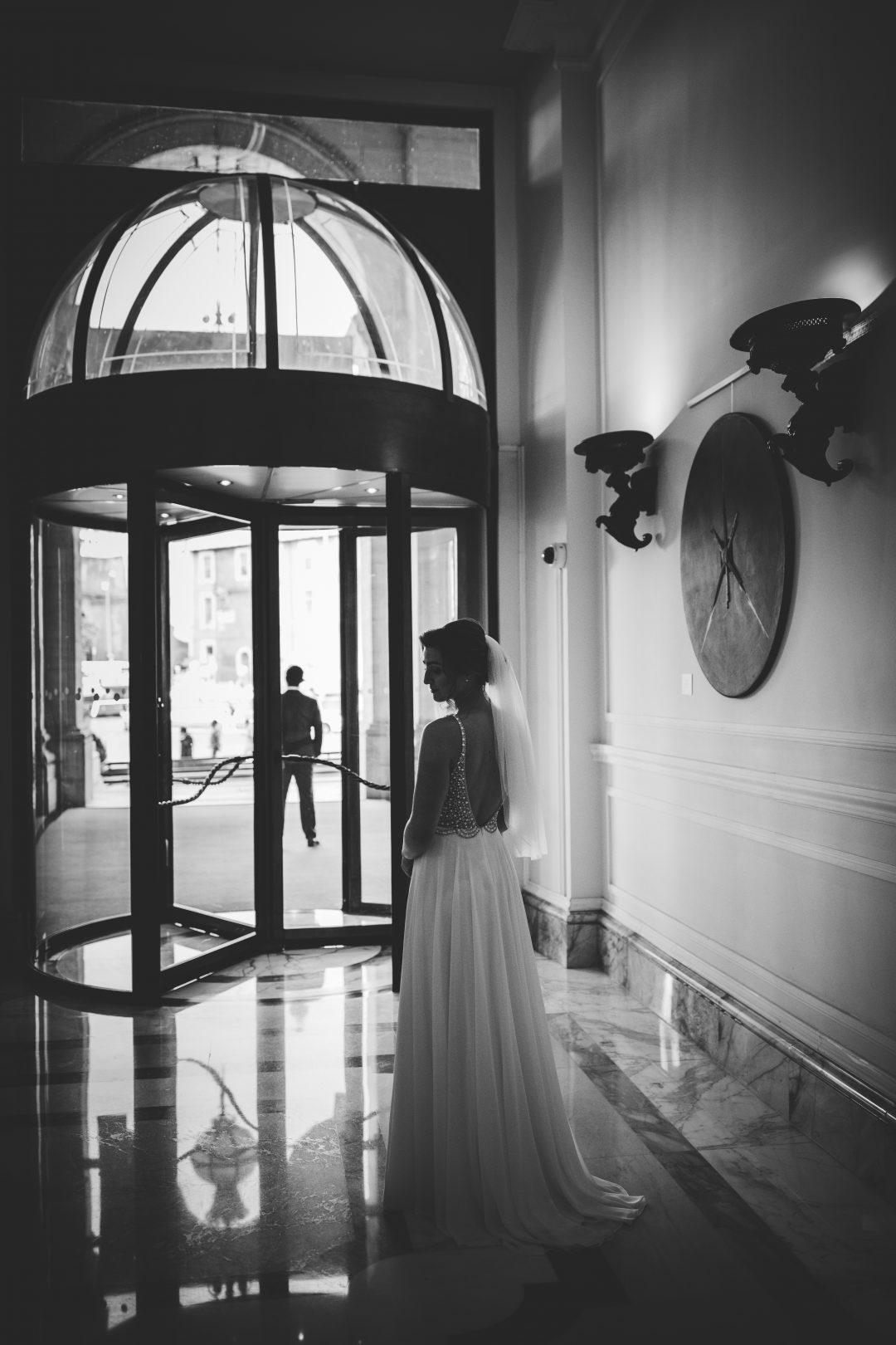 Rome elopement wedding Villa Borghese