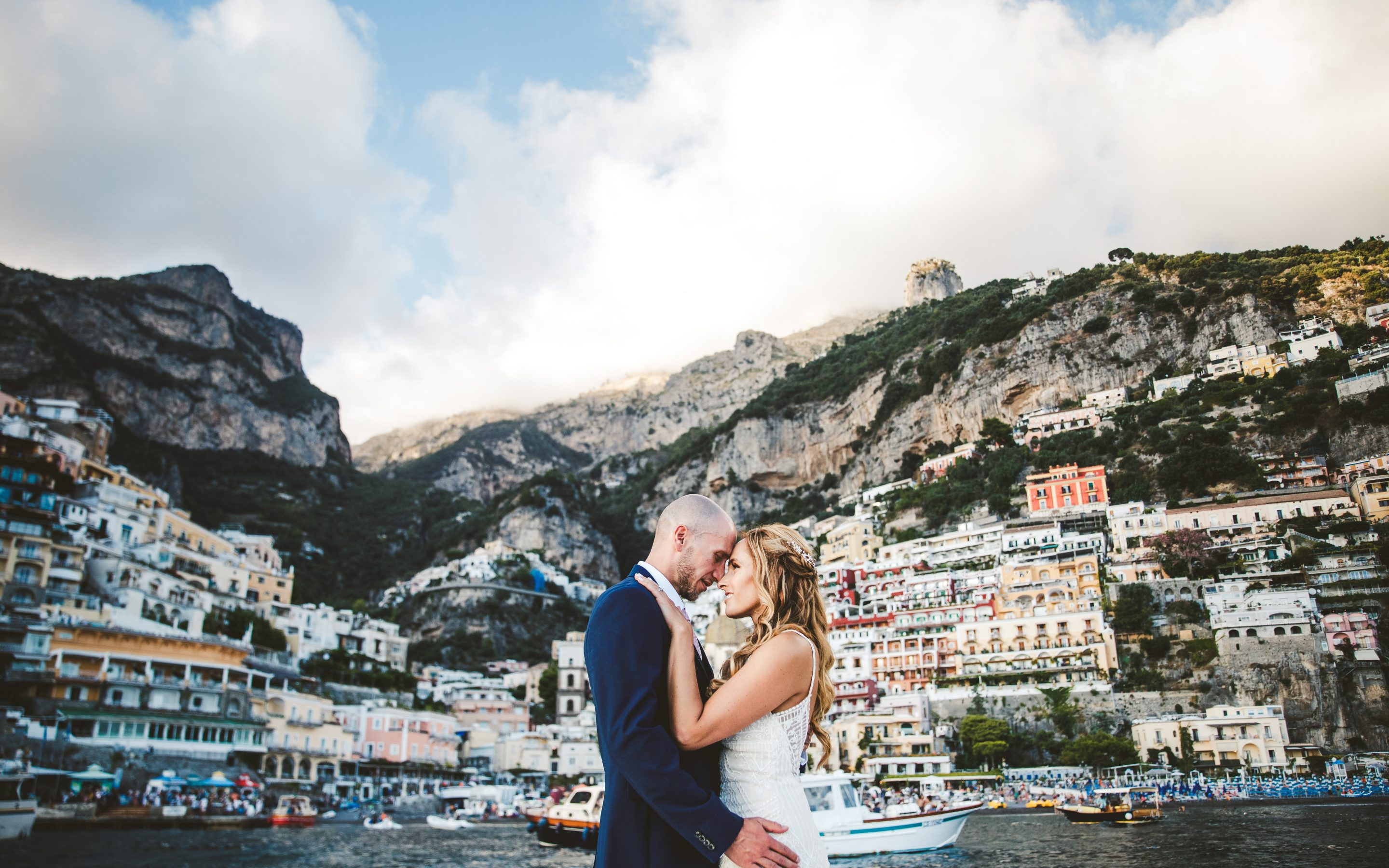 Romantic elopement in Positano