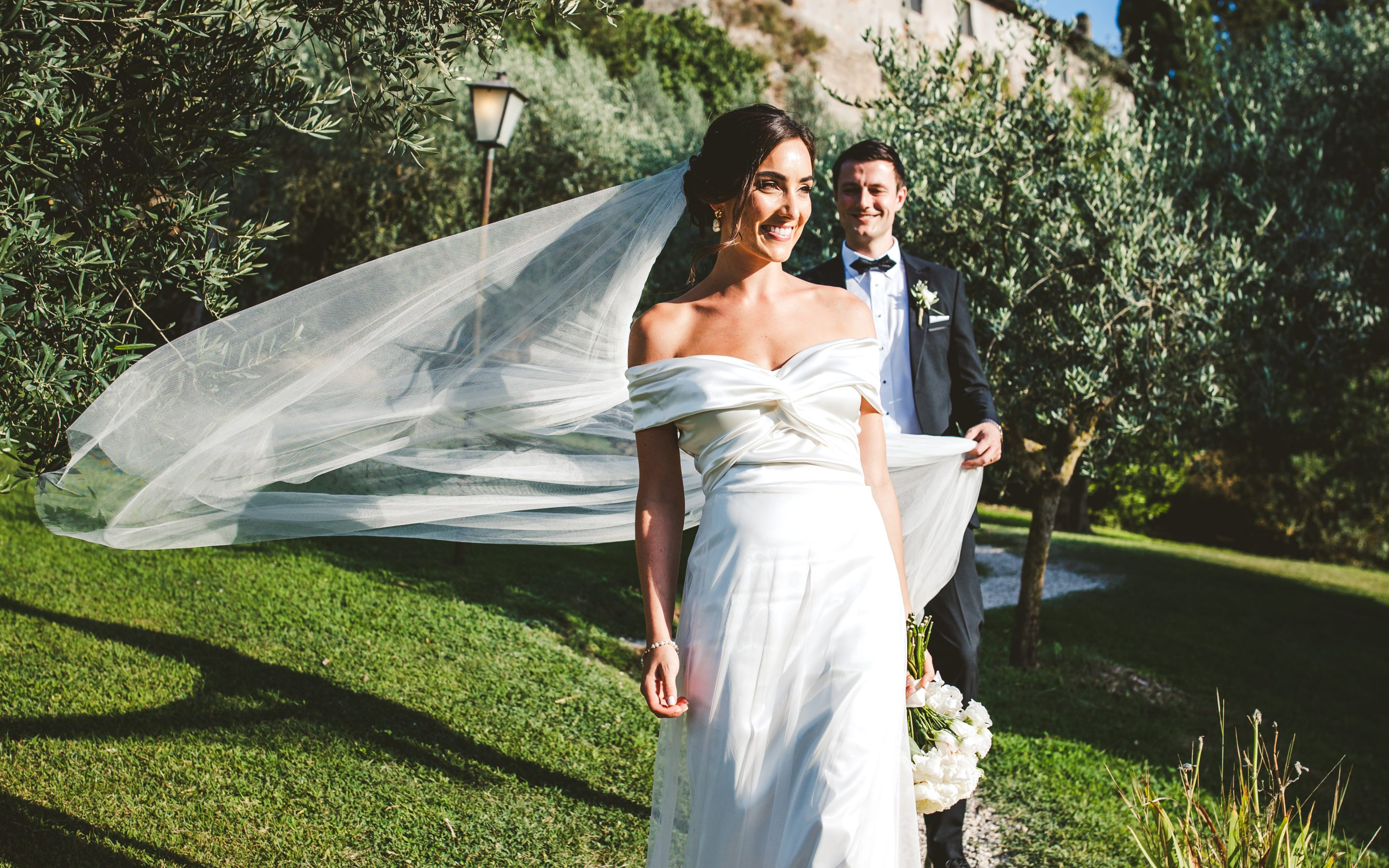 Elegant irish wedding at Borgo di Tragliata