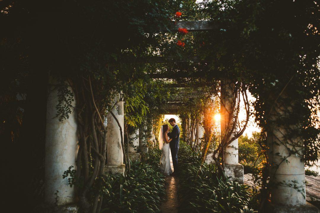 Sunset Capri elopement intimate wedding