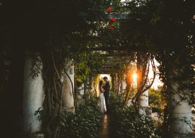 Sunset Capri elopement intimate wedding