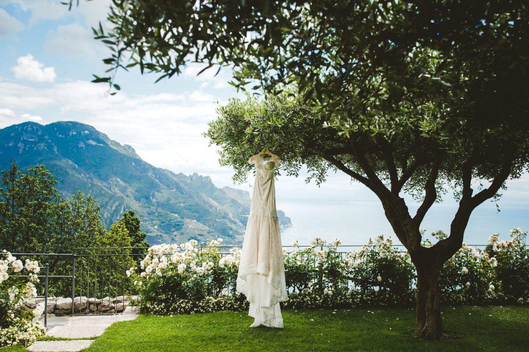 Garden ceremony Ravello wedding Hotel Belmond Caruso