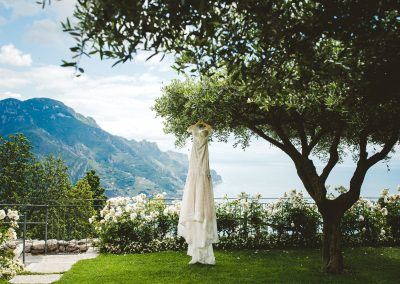 Garden ceremony Ravello wedding Hotel Belmond Caruso