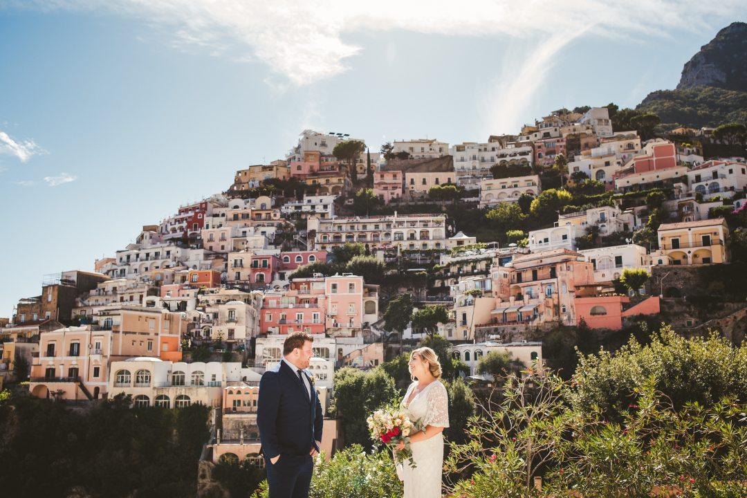 Colorful elopement in Positano
