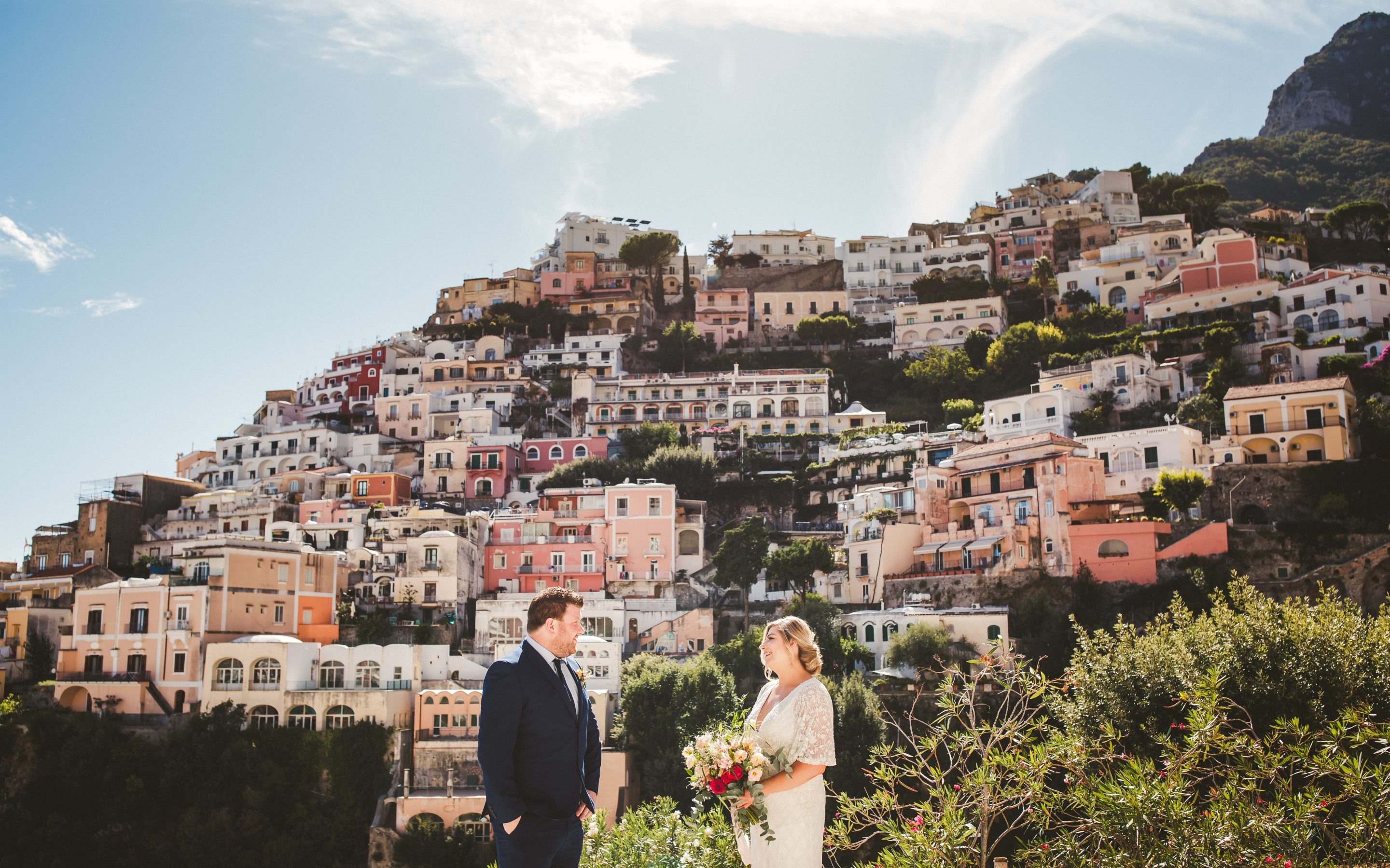 Colorful elopement in Positano