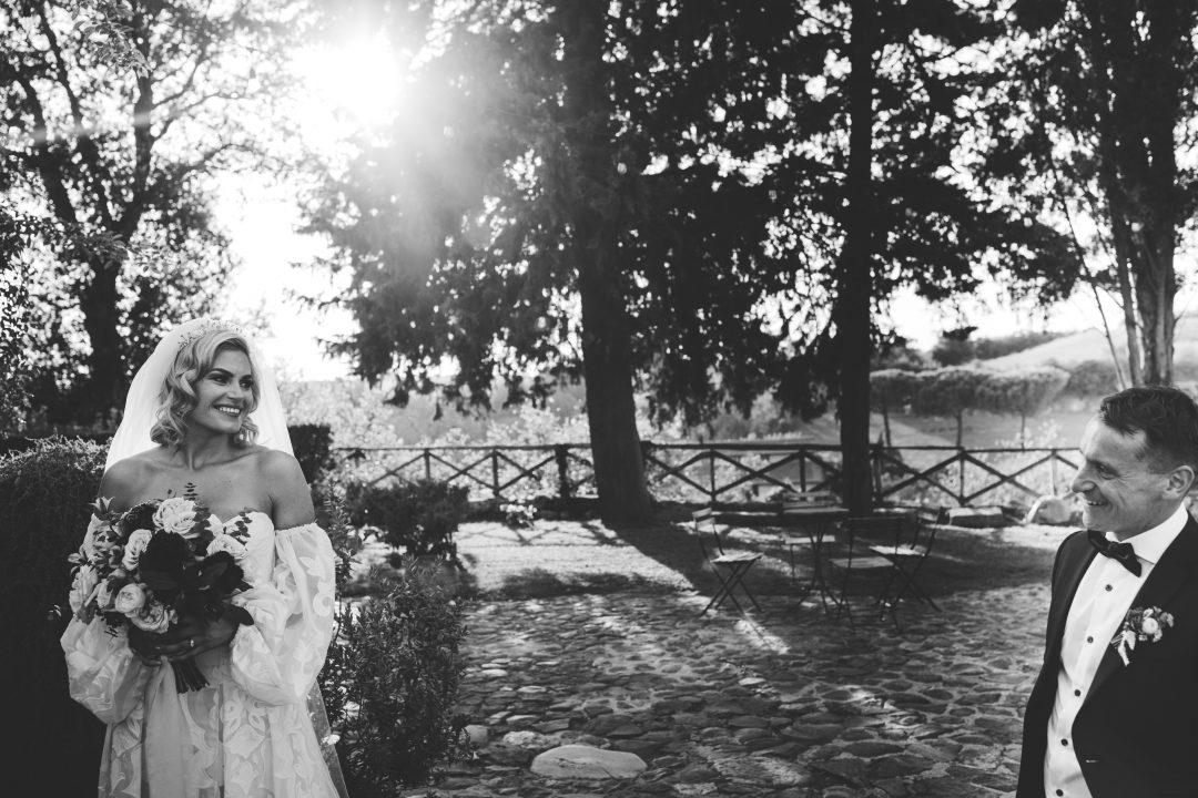 Lovely irish wedding at Borgo di Tragliata